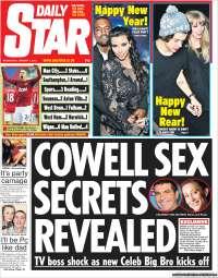 Portada de Daily Star (Reino Unido)