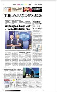 Portada de The Sacramento Bee (USA)