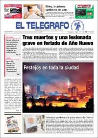 Portada de El Telégrafo (Uruguay)