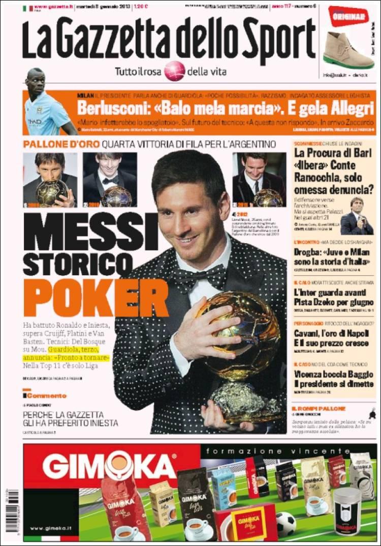 Portada de La Gazzetta dello Sport (Italy)