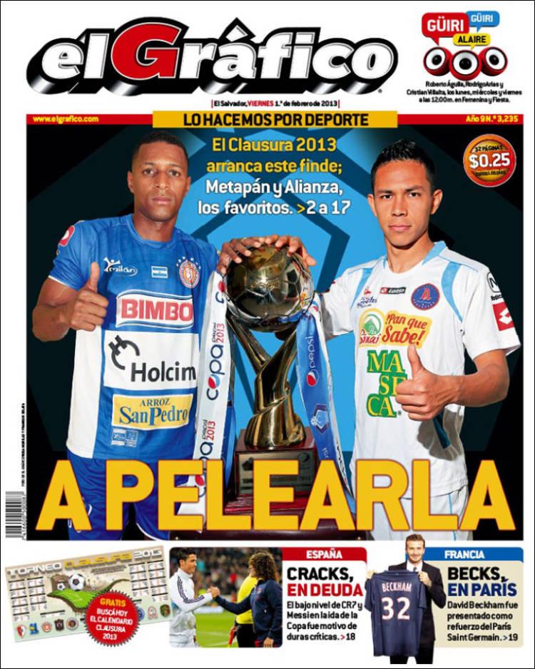 Portada de Diario El Gráfico (El Salvador)