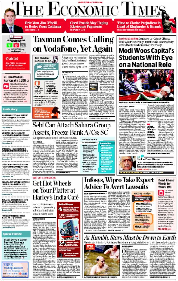 Economic Times Epaper - Today's Economic Times Newspaper