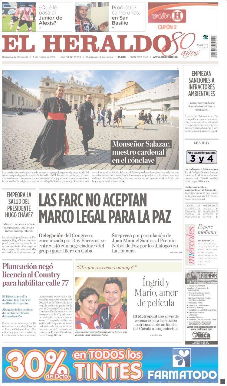 Opiniones de El Heraldo (Colombia)