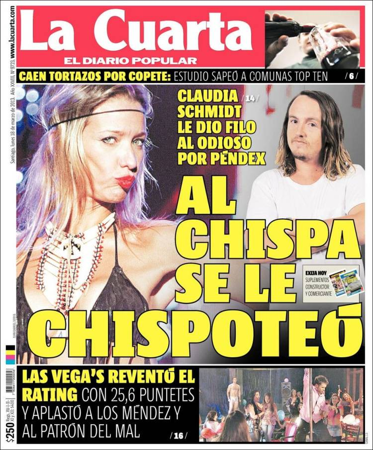 la cuarta diario de chile - 28 images - peri 243 dico la cuarta ...