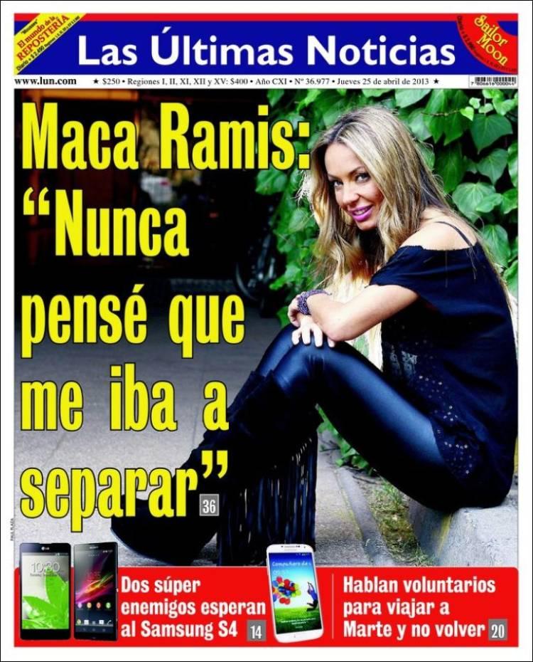 Peri dico las ltimas noticias chile peri dicos de for Noticias farandula argentina hoy