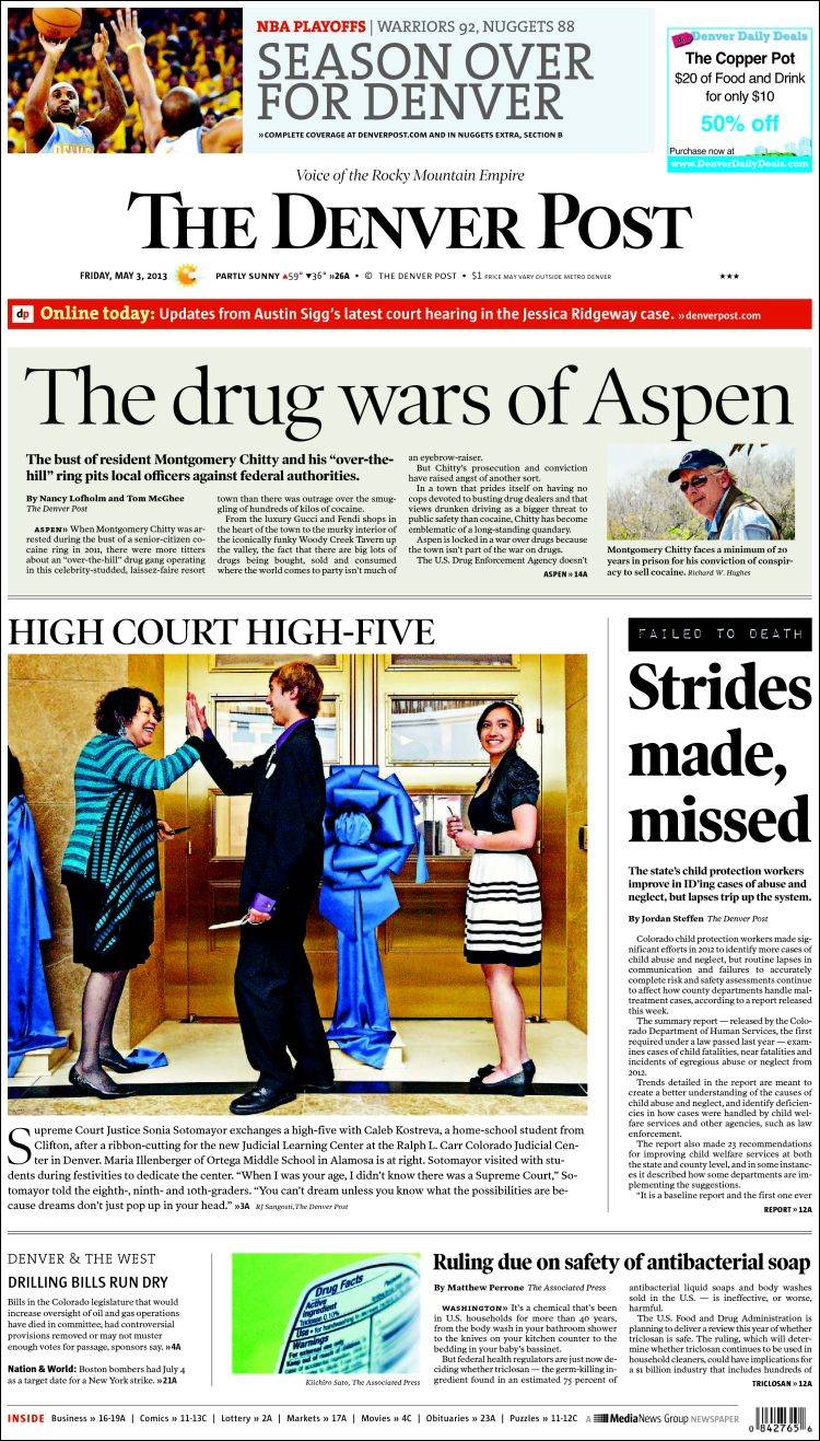 Newspaper The Denver Post (USA)  Newspapers in USA  Friday's