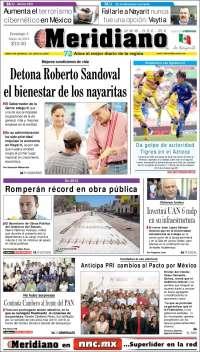 Portada de Meridiano de Nayarit (México)