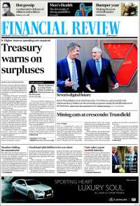 Portada de The Australian Financial Review (Australia)