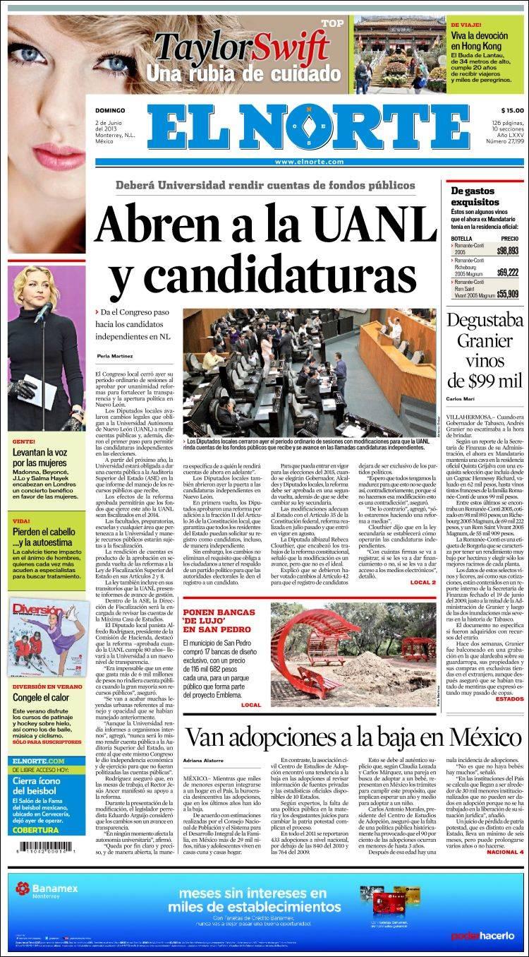 Periódico El Norte (México)  Periódicos de México  Edición