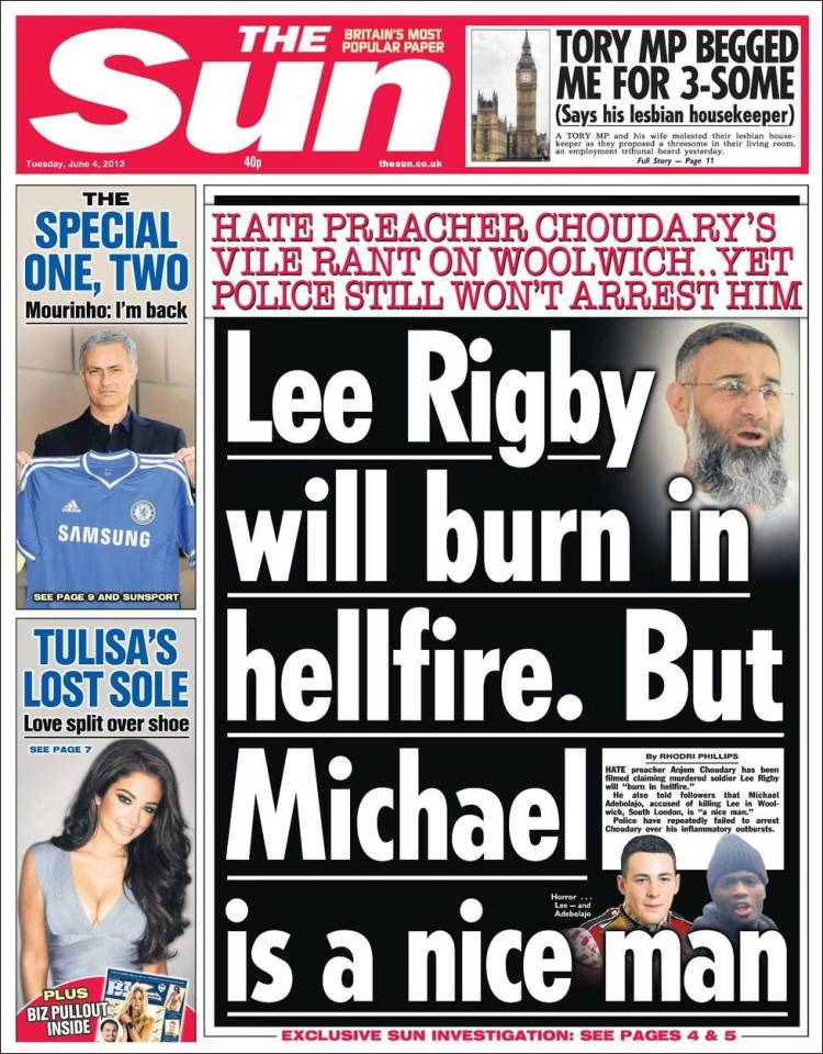 Image result for the sun newspaper 2013