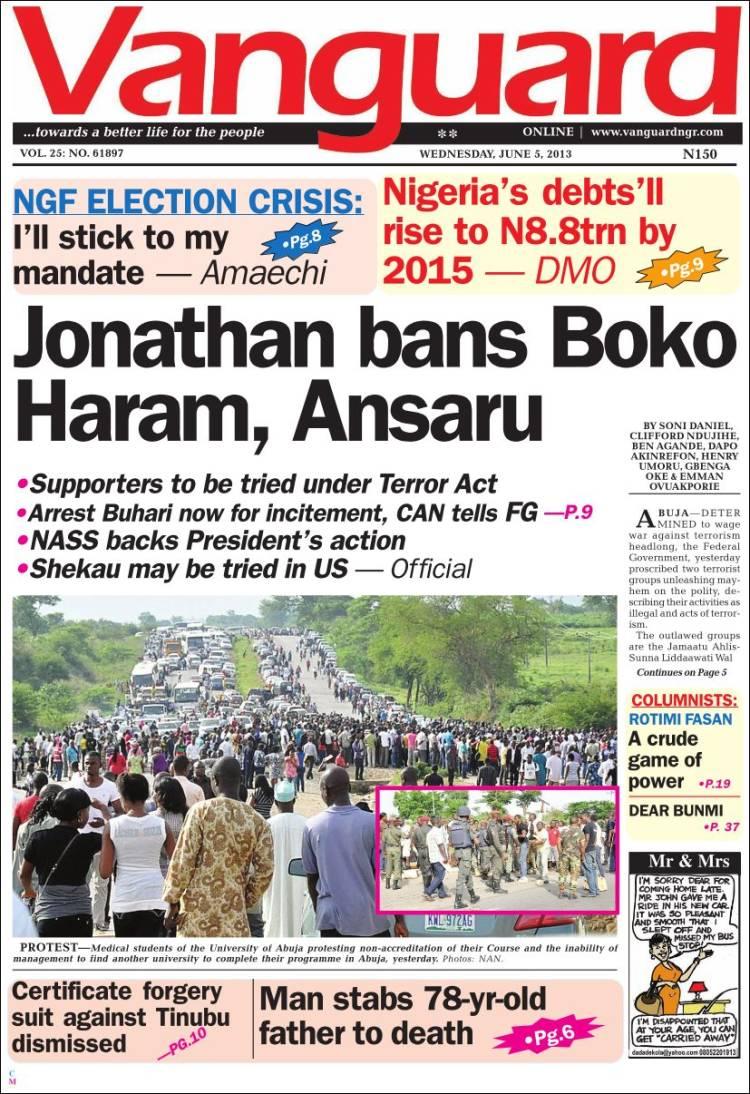 vanguard newspaper nigerian news