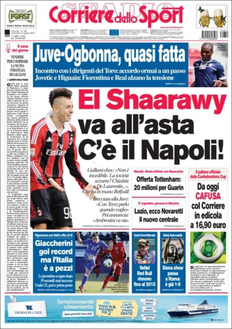 روزنامه های ورزشی ایتالیا