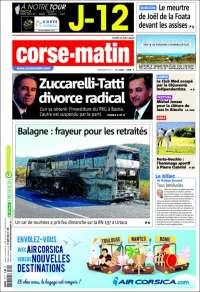 Portada de Corse-Matin (France)