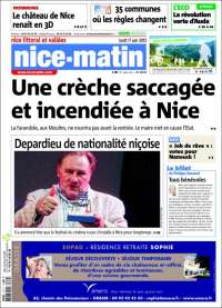 Portada de Nice-Matin (France)