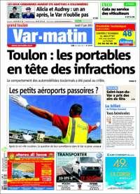Portada de Var-Matin (France)