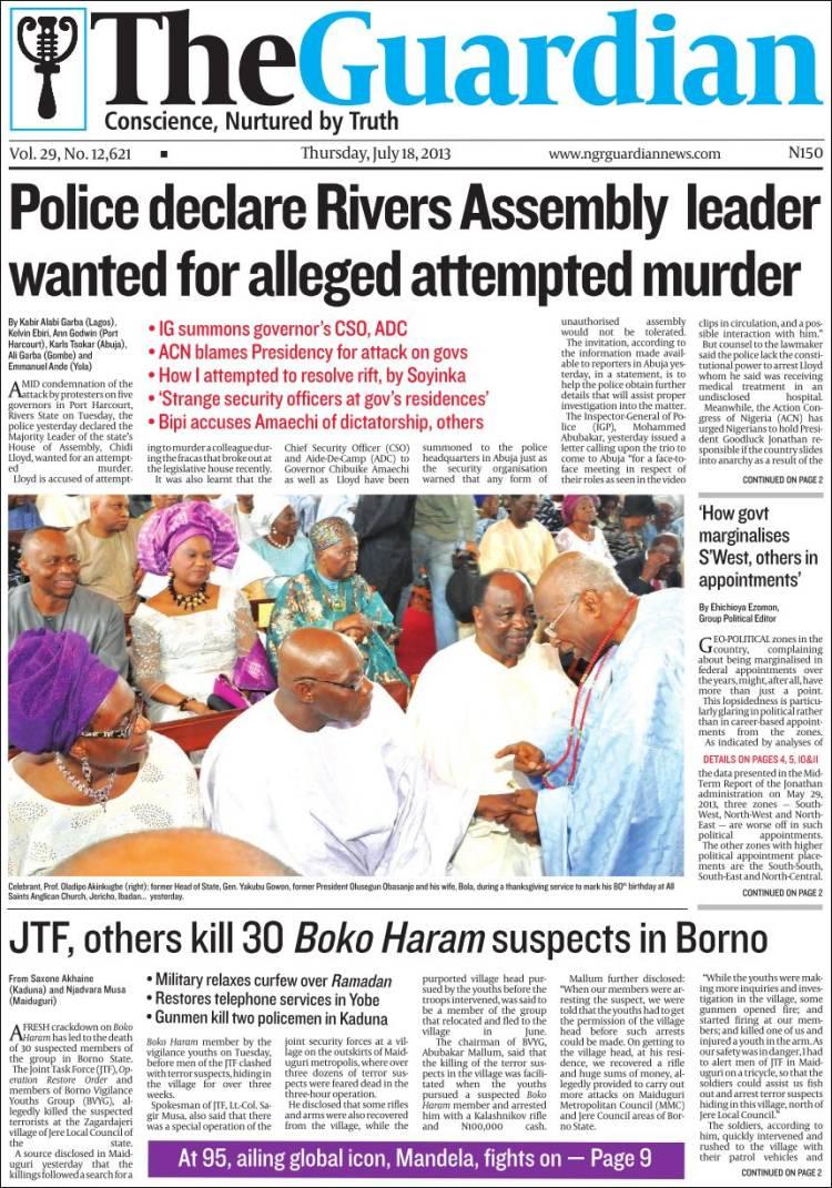 Nigerian Newspapers Best Papers