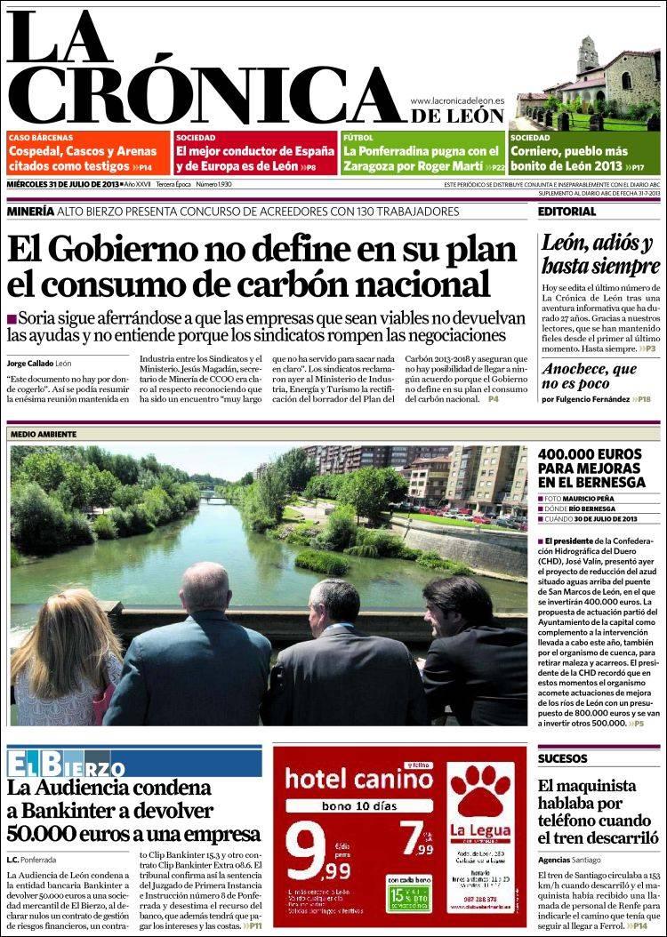 Portada de La Crónica - León (España)