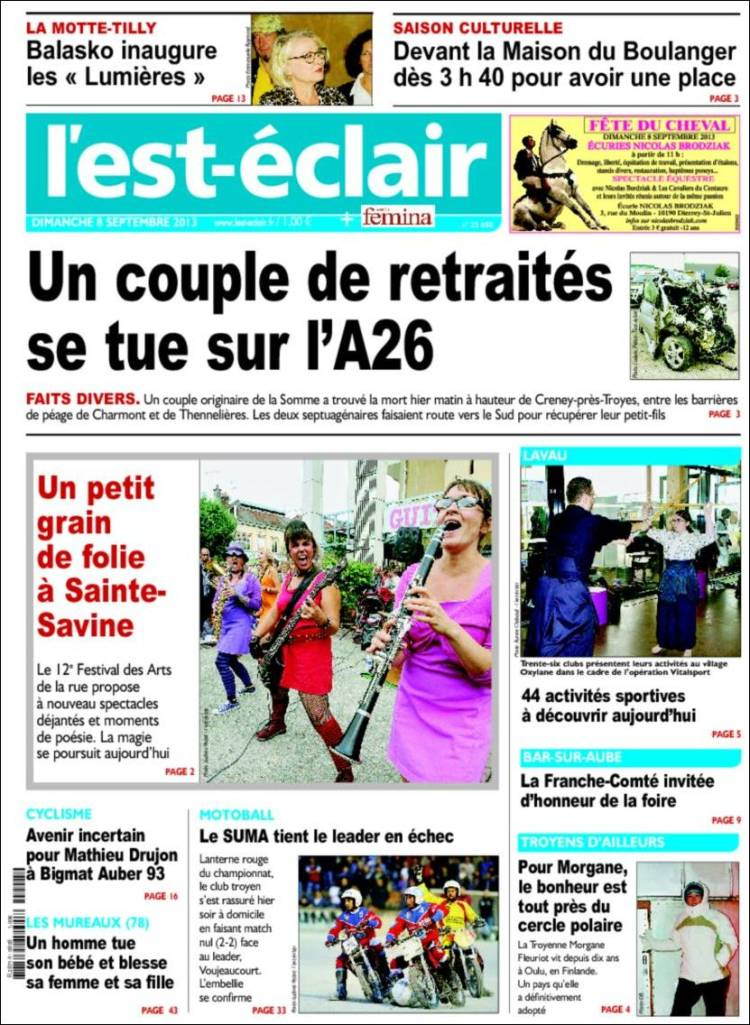 Periódico Lest Eclair Francia Periódicos De Francia