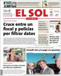 Portada de El Sol Diario (Argentina)