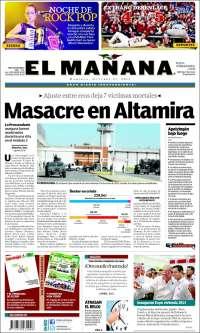 Portada de El Mañana de Reynosa (México)