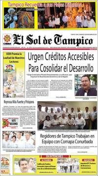 Portada de El Sol de Tampico (México)