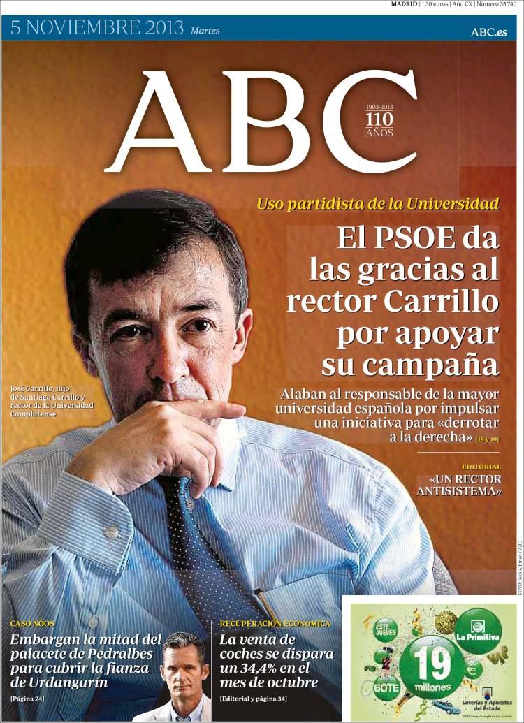Peridico ABC Espaa Peridicos De Espaa Edicin De Martes 5