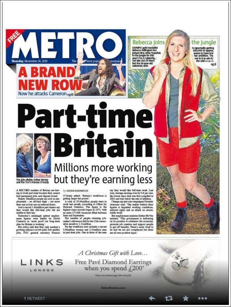 Metro paper