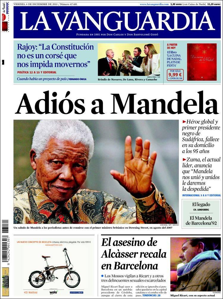 La vanguardia 06 12 2013 la prensa diaria - Portada de la vanguardia ...