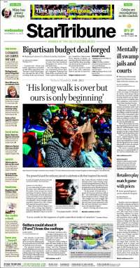 Portada de Star Tribune (USA)