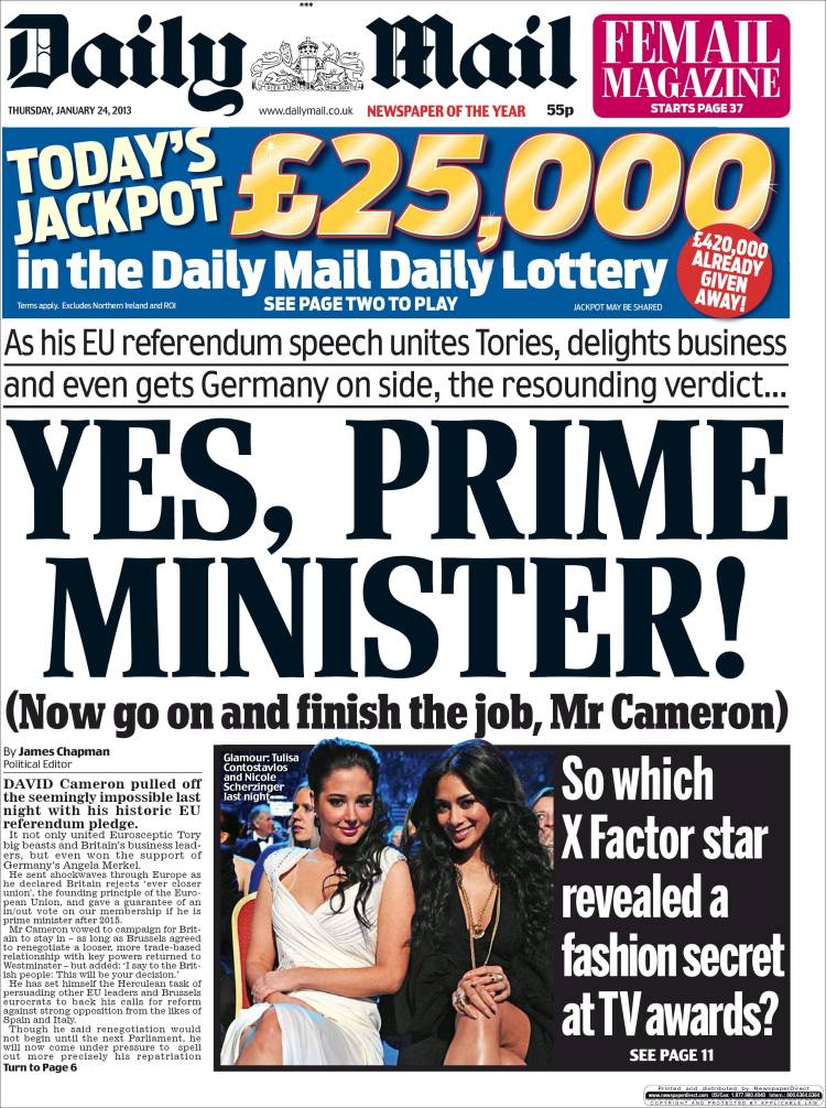 Daily Mail Front Page 22nd of September 2020 - Tomorrows